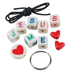 12 Jesus Loves Me Keychain Craft Kits