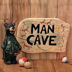 Primitive Design Man Cave Sign