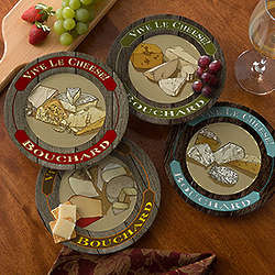 Personalized Stoneware Cheese Plates
