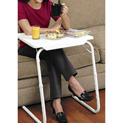 Table Mate II Portable Tray in White