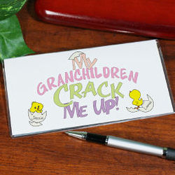 Crack Me Up Personalized Checkbook Cover