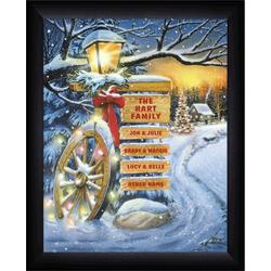 Holiday Home Sign Personalized and Framed