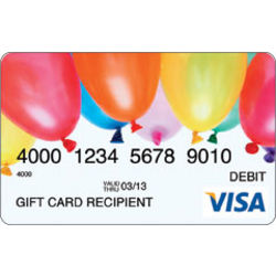 $100 Congratulations Candles Visa Gift Card