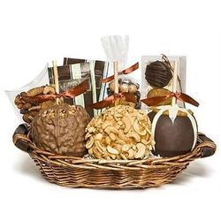 Decadent Gourmet Caramel Apple Gift Basket