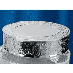Round Silver Plated Wedding Cake Stand