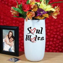 Soul Mates Personalized Ceramic Vase