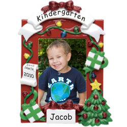 Personalized Kindergarten Picture Frame Christmas Ornament