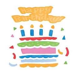 Repositionable Birthday Cake GelGem Sticker