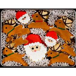 Santa and His Reindeer Cookie Tin