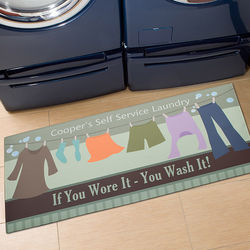 Personalized Laundry Time Oversized Mat