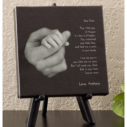 Personalized Hand In Hand Baby Canvas Art