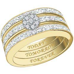 Message of Devotion Diamond Ring Set