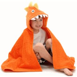 Personalized Dylan the Dinosaur Hooded Towel