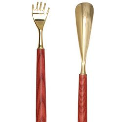 Red Ash Shoe Horn with Back Scratcher