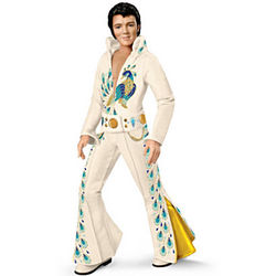 Elvis Presley Peacock Jumpsuit Doll