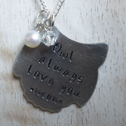 Owl Always Love You Personalized Hand Stamped Necklace