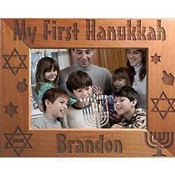 Personalized My First Hanukkah Picture Frame