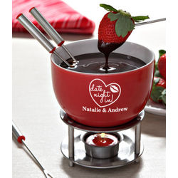 Personalized Date Night Mini Fondue Set