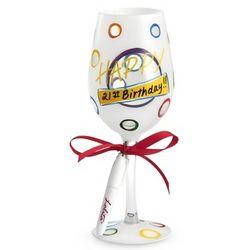 Happy Personalized Wine Glass
