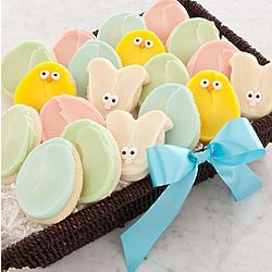 Easter Buttercream Frosted Cookies Gathering Basket