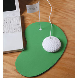 Golf Ball Mouse and Mouse Pad
