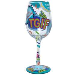 TGIF Wine Glass