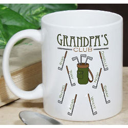 Personalized Golf Club Coffee Mug