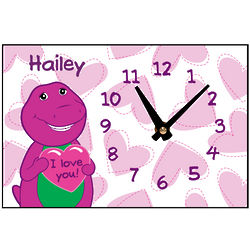 Barney Loves You Desk Clock