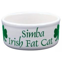 Personalized Irish Fat Cat Bowl