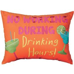 No Working During Drinking Hours Pillow