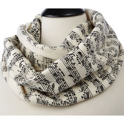 Handwritten Sheet Music Circular Scarf