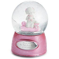 Praying Girl Snow Globe
