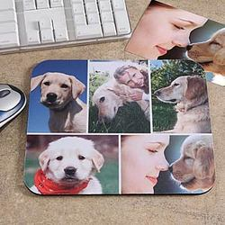 Personalized Pet Photo Collage© Mouse Pad- Horizontal