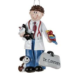 Male Veterinarian Personalized Christmas Ornament