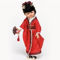 12-Inch Japanese Doll Dressed in Traditional Kimono