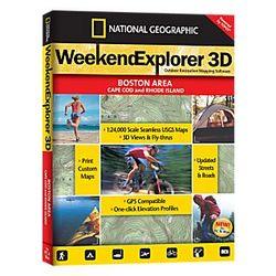 Weekend Explorer 3D Boston Area & Cape Cod, Rhode Island Maps