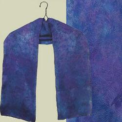 Blue Violet Floral Silk Scarf