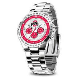 Ohio State Buckeyes Stainless Steel Watch