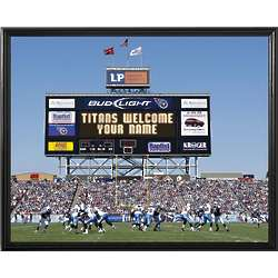 Tennessee Titans Personalized Scoreboard 11x14 Framed Canvas