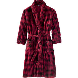 Men's Plaid Shawl Collar Robe