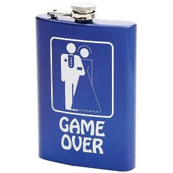 Personalized Game Over Wedding Flask