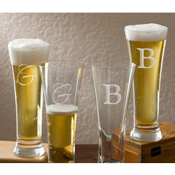 Personalized Pilsner Glass Set