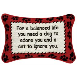 For a Balanced Life Dog and Cat Pillow