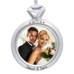 Personalized Engaged Picture Frame Ornament
