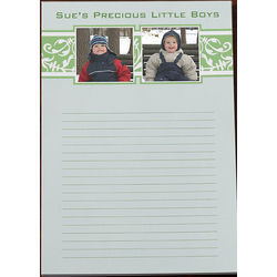 Floral Personalized Two Photo Notepad