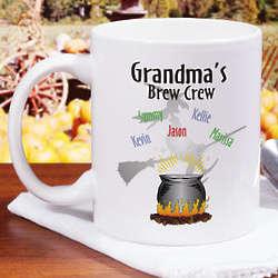 Personalized Brew Crew Halloween Coffee Mug