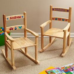 Child's Personalized Wooden Rocking Chair