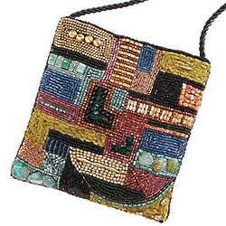 Petra Mosaic Beaded Crossbody Bag