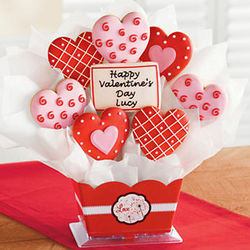 Personalized Valentine's Day Cookie Bouquet