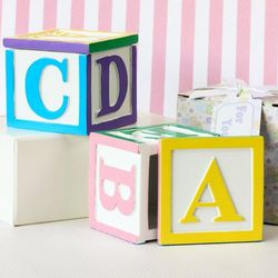 Baby Alphabet Block Trinket Boxes